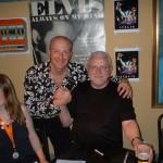 con Jerry Scheff il bassista storico di Elvis Presley.