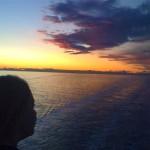 mare dell'Ellenia al tramonto